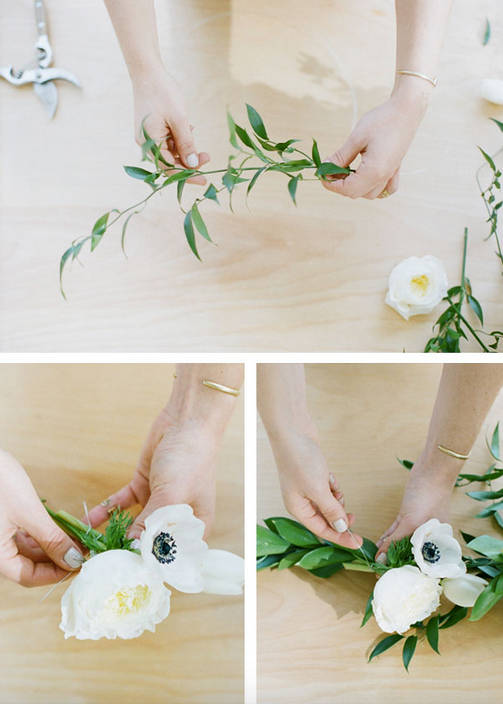 Decoracion de globos con guirnaldas florales - Decoracion de guirnaldas ...