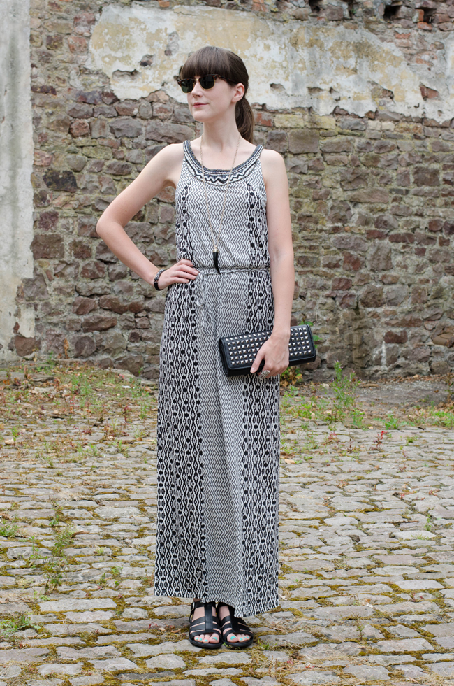 Warehouse Embellished Maxi Dress