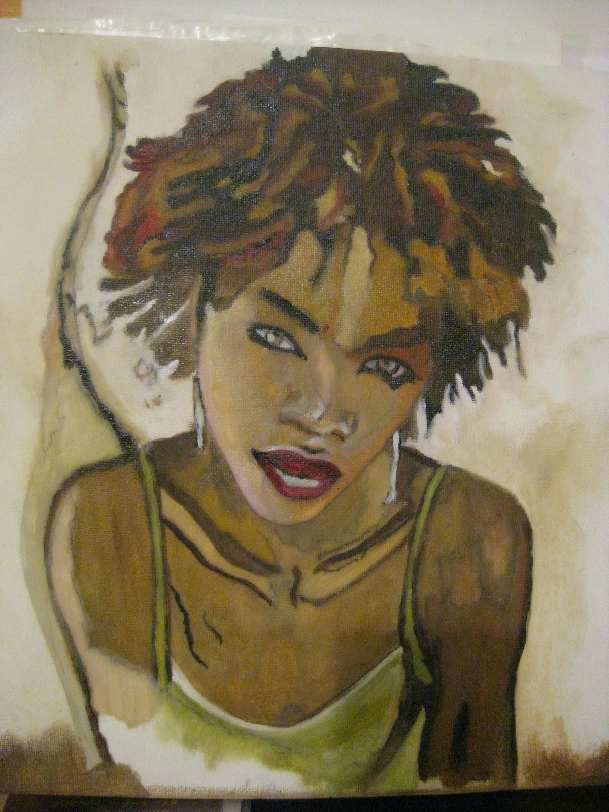 Super Marie France Payenartiste peintre: Femme Métisse UA78