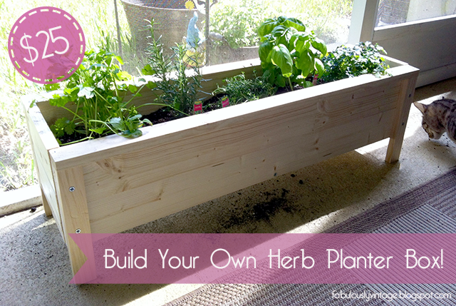 Planter Boxes Plans For Herbs