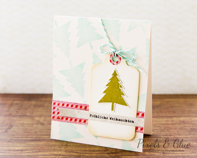 Scrap-Art-Zine Fall 2012 Pub - Handmade Christmas Tree Card