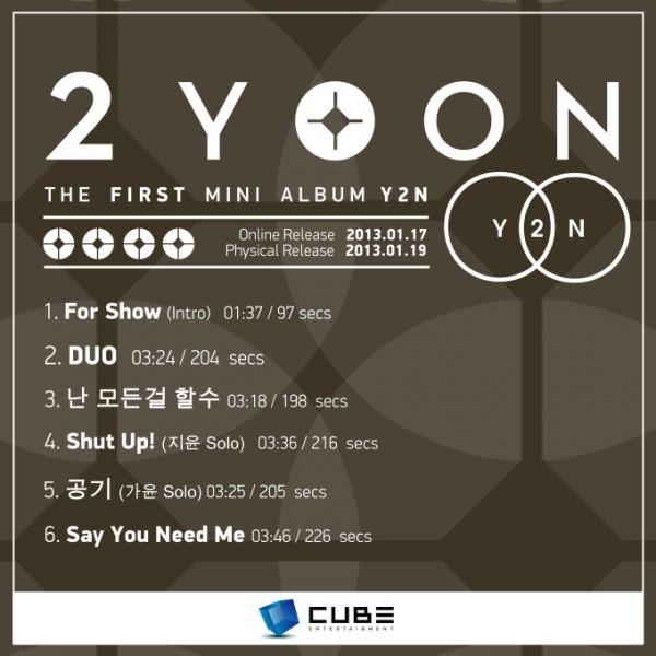 Double Yoon Tracklist Album