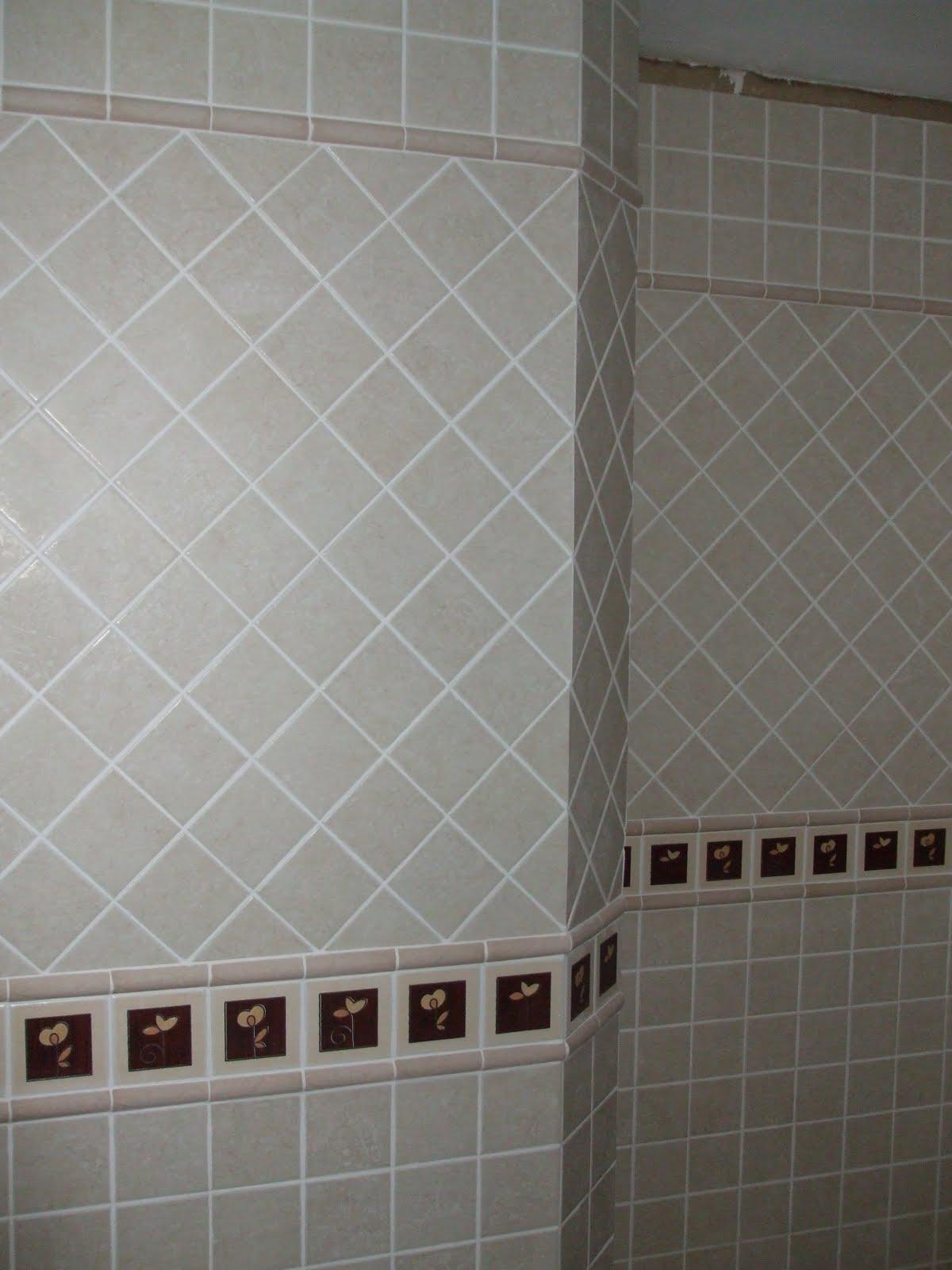 Fotos de ba os con azulejos pintados como colocar - Como colocar azulejos en el bano ...