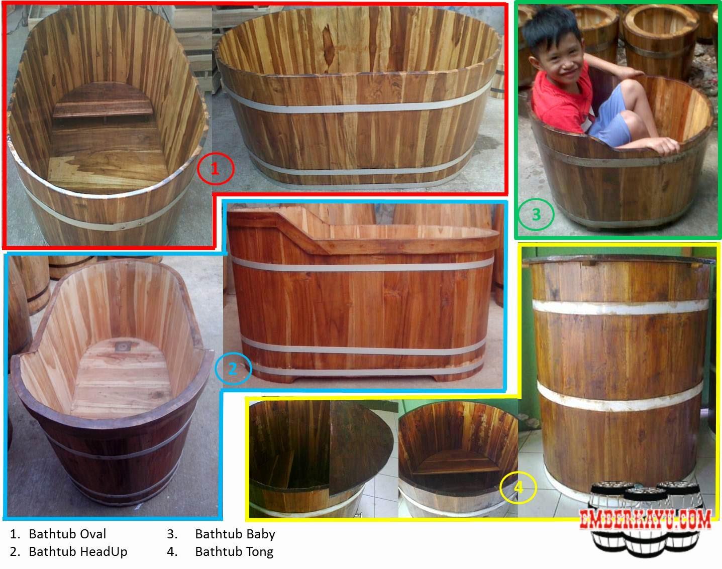 bathtub kayu, bak mandi kayu, bak berendam kayu, bath tube kayu
