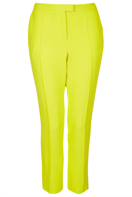 yellow cigarette trousers