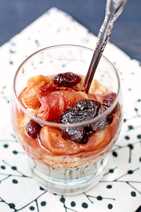winter fruit compote