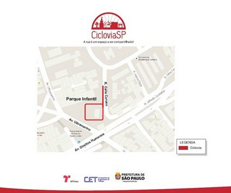 Ciclovia Praça Vereador Antonio Sampaio