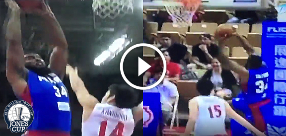 Moala Tautuaa's AMAZING Pair Of Dunks Against Japan (VIDEO) Jones Cup 2015