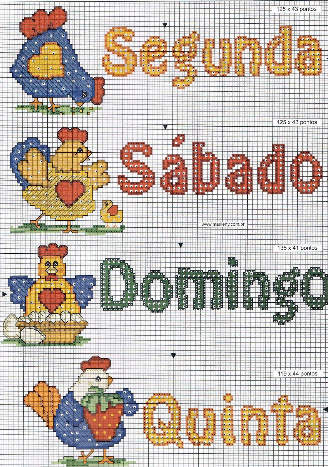 Regina Receitas De Croche E Afins Ponto Cruz Na Cozinha  ~ Ponto Cruz Cozinha Moderna