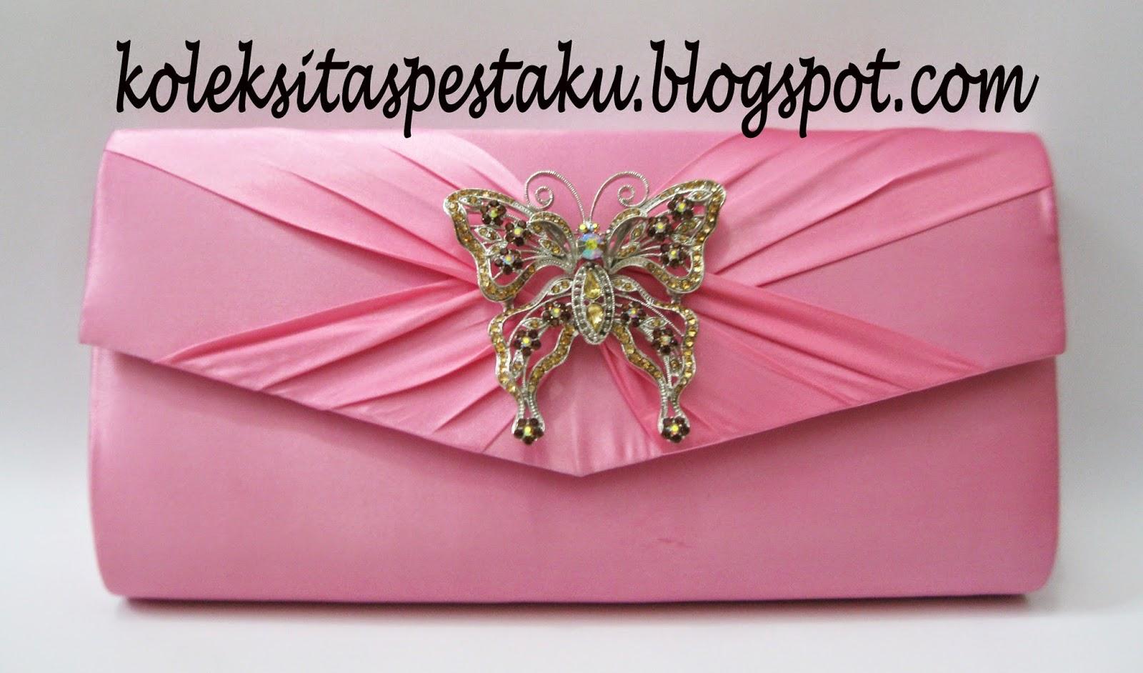Dompet Pesta Pink Ayu Mewah dan Elegant Bros Kupu Cantik