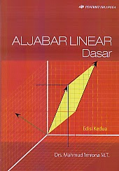 toko buku rahma: buku ALJABAR LINIER DASAR EDISI KE 2, pengarang mahmud imrona, penerbit erlangga