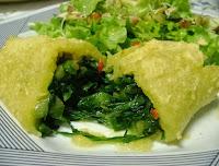 Rocambole de Mandioca com Escarola (vegana)