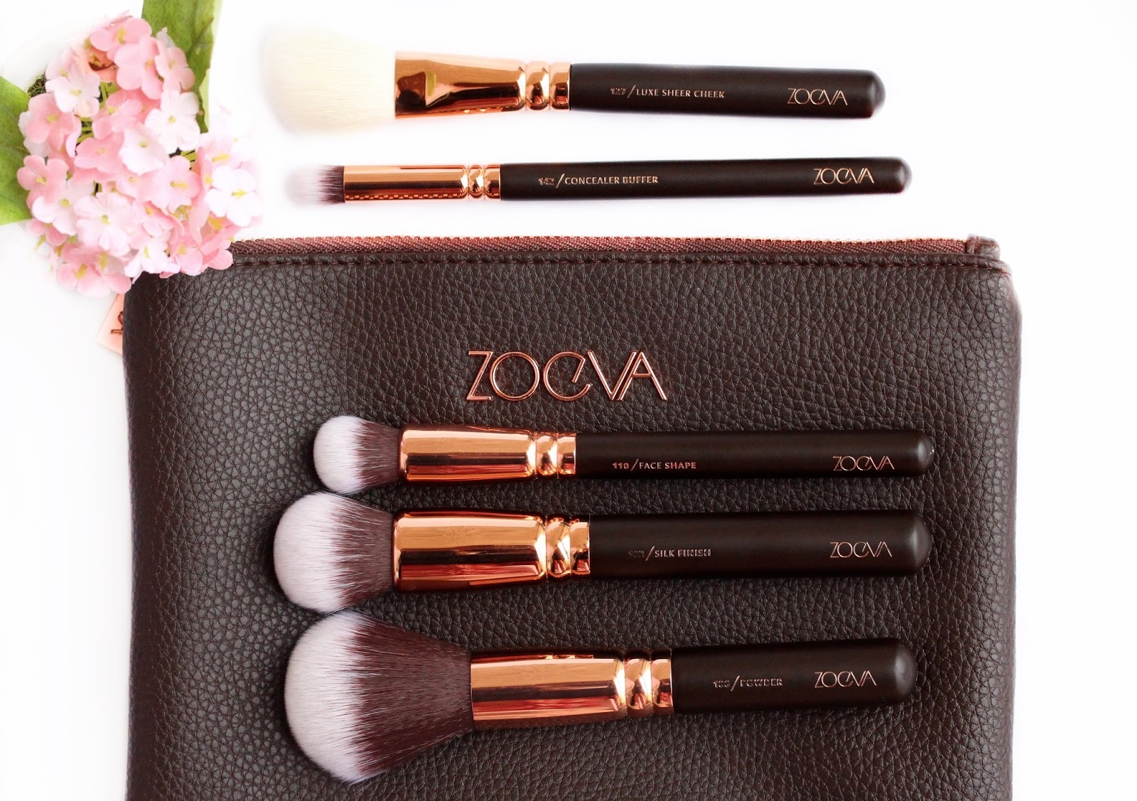 Zoeva Rose Golden Luxury Brush Set - face brushes
