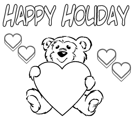 Holidays Coloring Pages Happy-holiday-coloring-pages