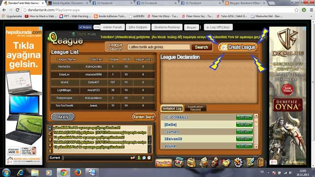 free bombom pvp ddtank play oyna jogar lig birlik create oluştur league pirata private