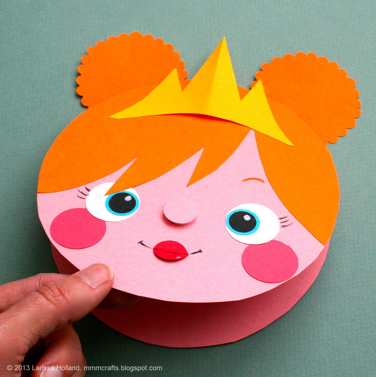 Birthday Card Making Ideas For Kids Part - 36: Make A Quick Princess Card/gift Tag (or A Bear, Or A Puppy, Etc...)