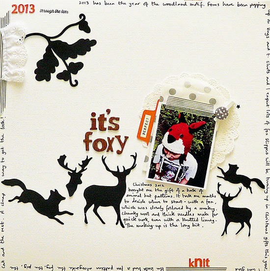 Sian Fair scrapbooking woodland scenes for Get It Scrapped