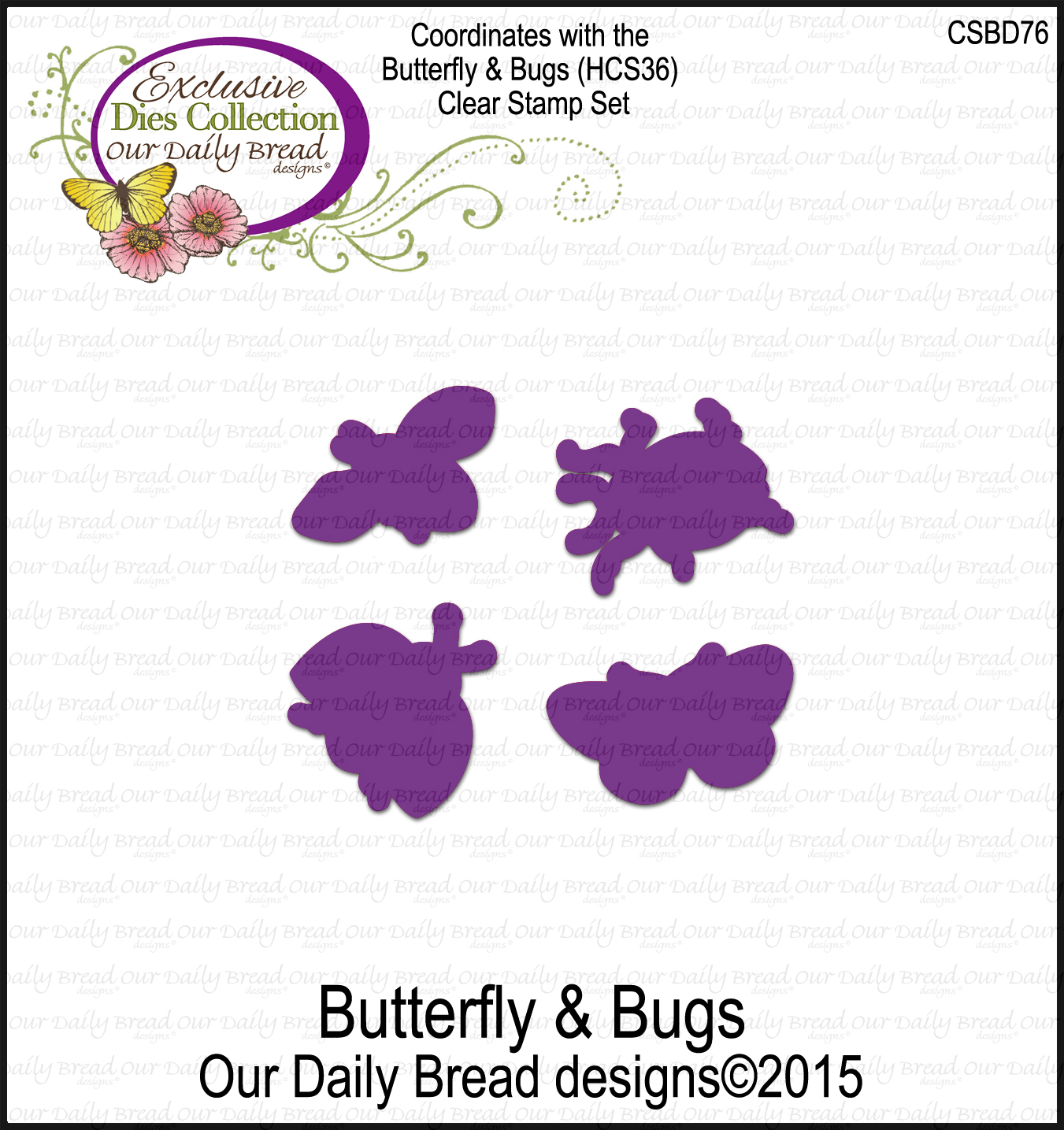 Our Daily Bread Designs Custom Butterfly & Bugs Dies