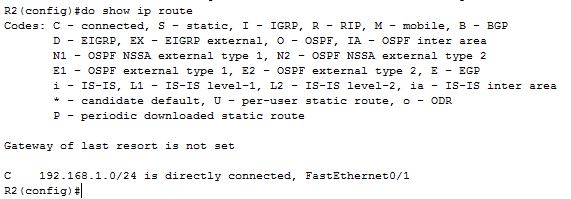 show ip route command