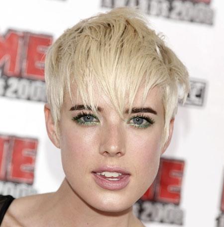 blonde hair and dark eyebrows international hairstyle