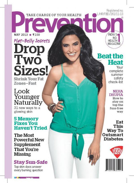 Actress Neha Dhupia on the cover of Prevention
