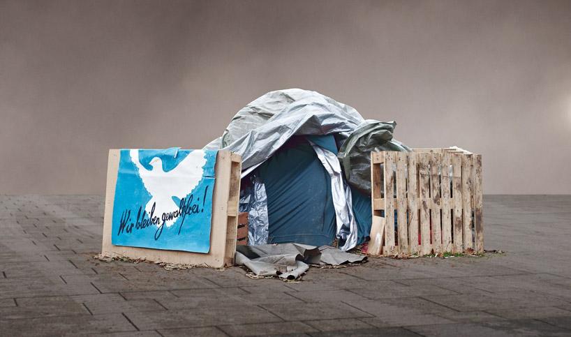tent city at stuttgart 21. frank bayh & steff rosenberger-ochs