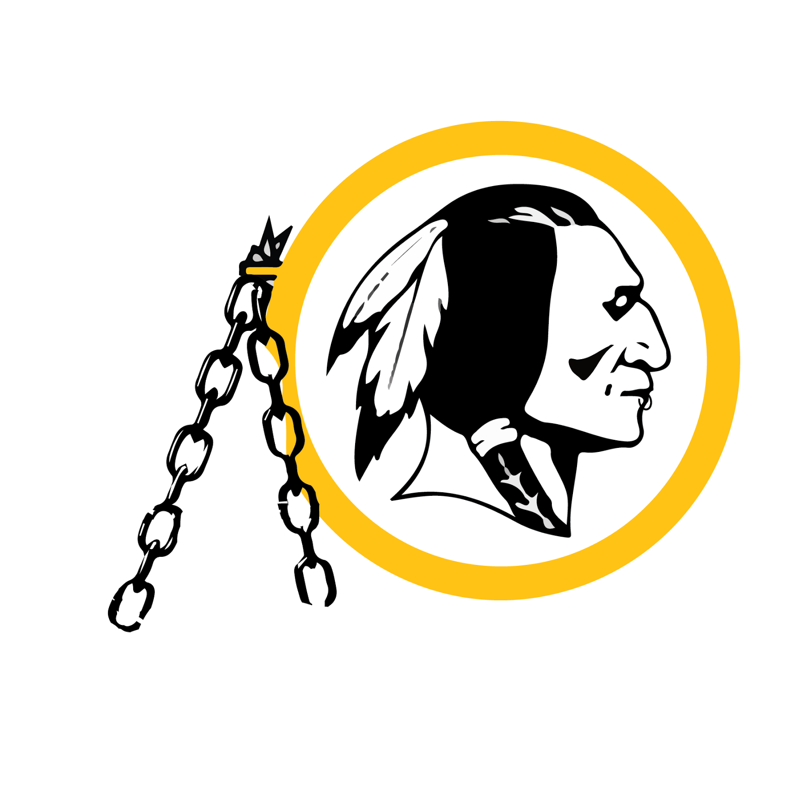 Washington Redskins, metal, logo, re-imagined
