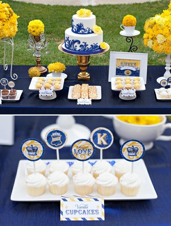 decoracao casamento rustico azul e amarelo:Lá vem a Noiva: Amarelo e azul – dupla moderna e romantica