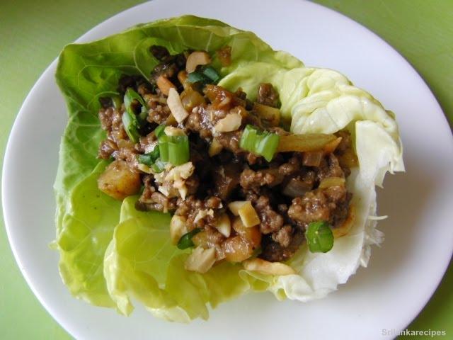 Srilankanrecipes: Ground Beef Lettuce Wraps Recipes