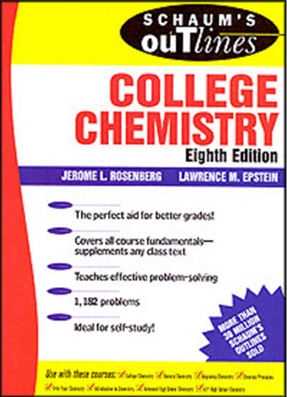 college chemistry 1 Chemistry from aluminum to xenon, we explain the properties and composition of the substances that make up all matter our study guides are available online and in book form at barnesandnoblecom .