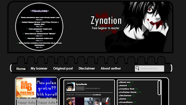 Template Zynation v8 free