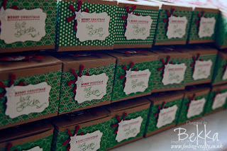 Christmas Gift Boxes by Independent Stampin' Up! Demonstrator Bekka Prideaux - check out her blog for lots of cute ideas