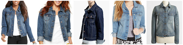 Style&co Denim Jacket $38.99 (regular $64.00) Stylus Denim Jacket $39.99 (regular $60.00)  Mango Dark Denim Jacket $39.99 (regular $79.99)  Jessica Simpson Pixie Denim Jacket $59.99 (regular $69.00)  J. Crew Factory Denim Jacket $64.50 (regular $85.00)