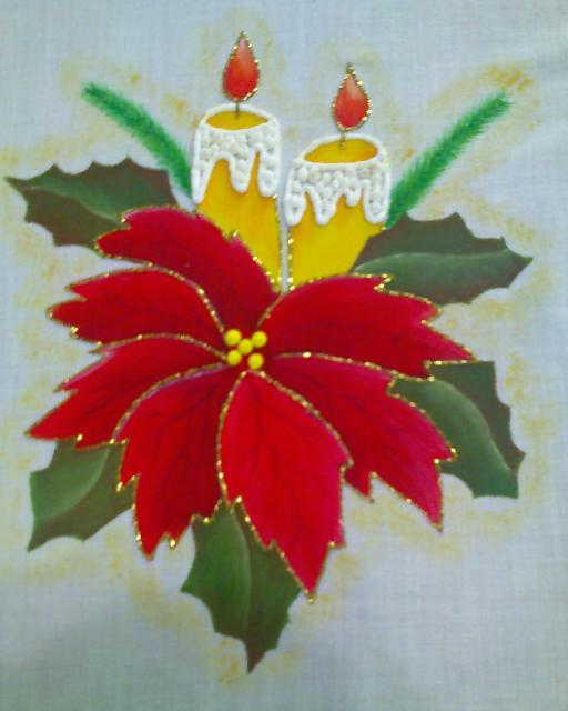 Pintura en tela a mano manteles e individuales pintados a - Como pintar telas a mano ...