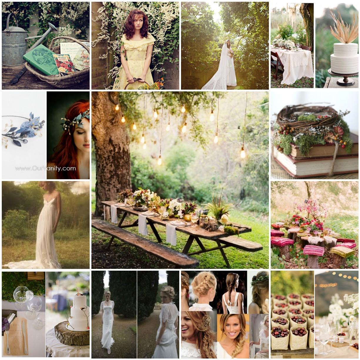 Vintage Garden Wedding Ideas: Stephanie J Oliver