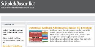 Daftar Aplikasi Administrasi Kelas SD Lengkap