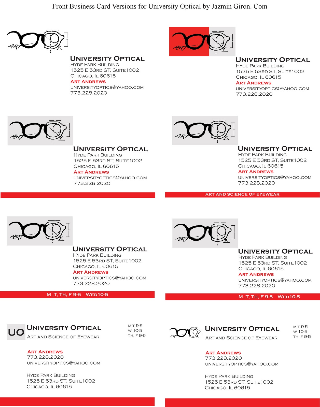 Business card designs for university optical jazmin giron life business card designs for university optical jazmin giron life behind the art colourmoves