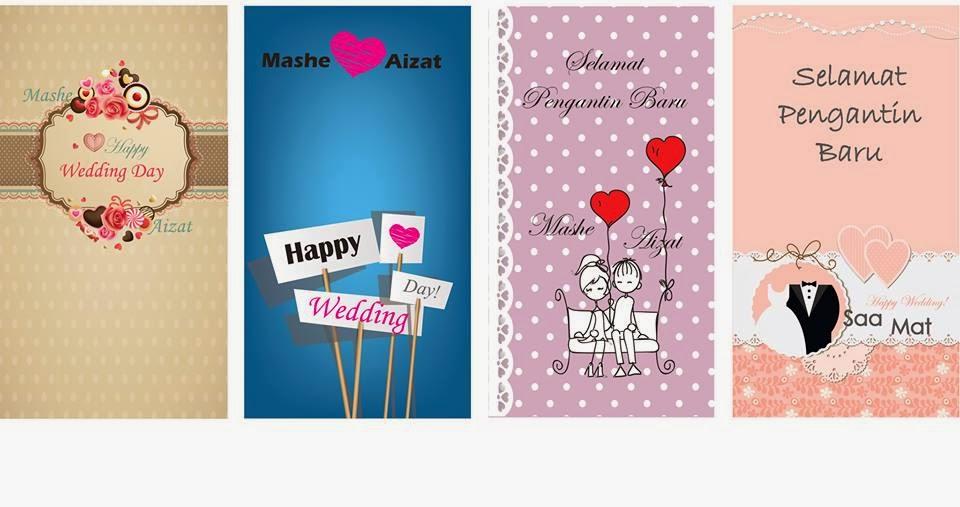 ... pelbagai design kad kahwin yang comel dengan harga yang murah