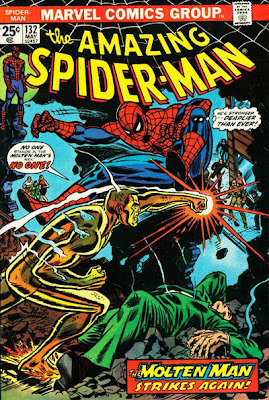 Amazing Spider-Man #132, the Molten Man returns - and so does Liz Allen/Allan