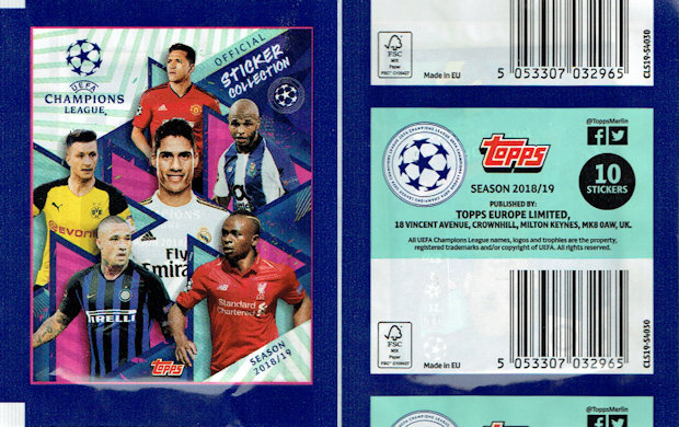 Sticker 117 Topps Champions League 18//19 Club Logo