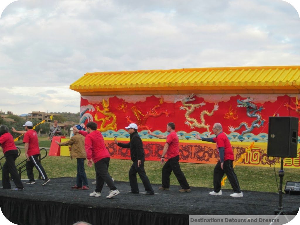 tai chi at Fountain Hills Chinese Lantern & Folk Festival