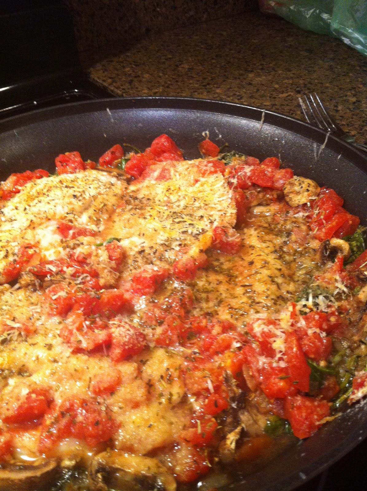 Seasoned by m e skillet baked tilapia for Baked fish seasoning