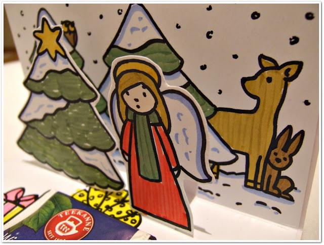 vánoční pop-up přání
