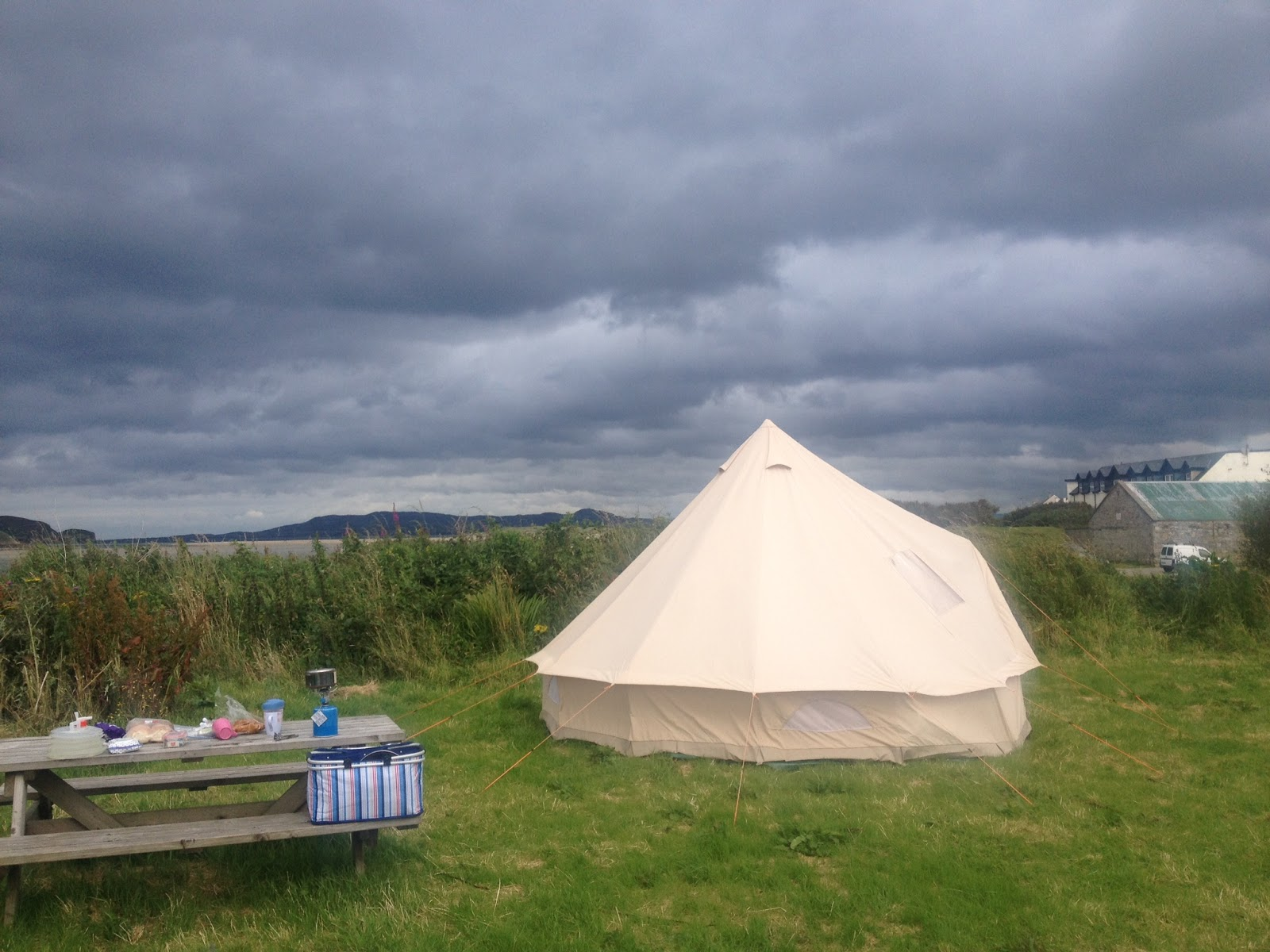 I combined Bell Tent c&ing with a paring down in all other areas. The cooking was confined entirely to one blue stripy container (see pic) and smaller and ... & Campervic: Bell Tent thoughts
