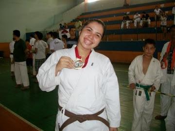 Nadla Marcela - Vice campeã Kumite Adulto