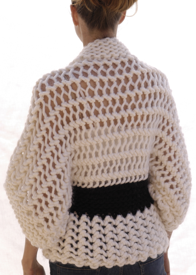 Knitting Pattern For Kimono Sweater : Knit 1 LA: the Swing Coat (Tunisian Crochet)