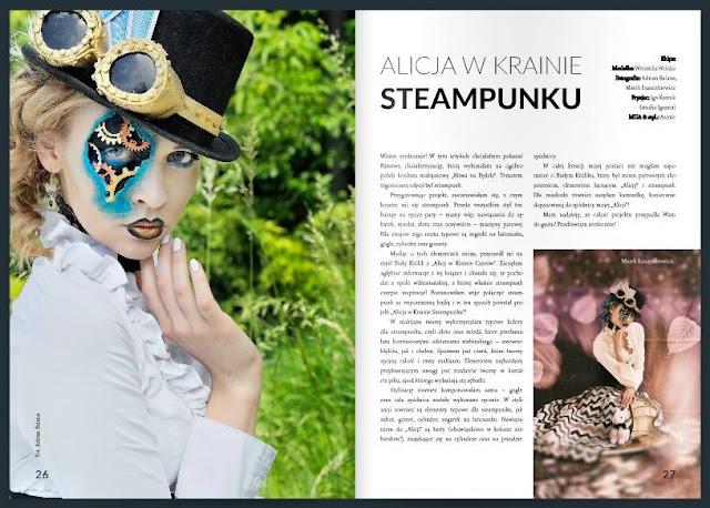 """[239.] """"Alicja w Krainie Steampunku""""- publikacja w e-makeupownia.pl"""