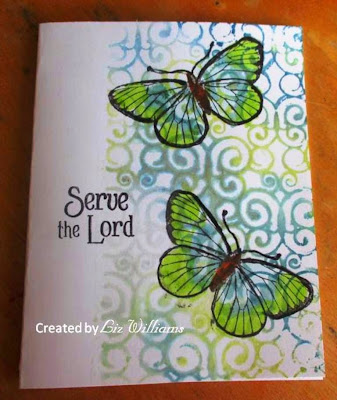 ODBD Serve, Butterfly Single, ODBD Customer Card of the Day by Liz Williams