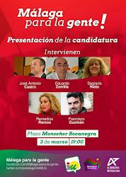 """Presentación de """"Málaga para la Gente"""""""