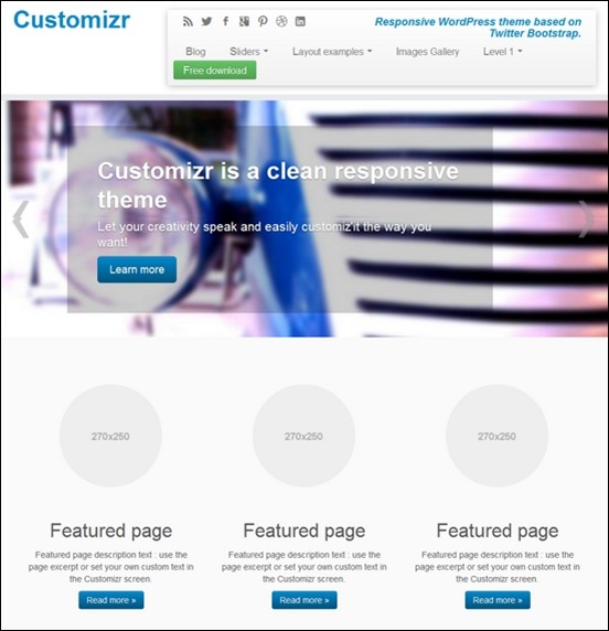 Customizr – A Free Responsive WordPress Theme built with Twitter Bootstrap